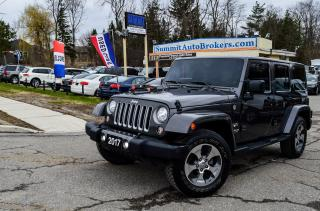 Used 2017 Jeep Wrangler SAHARA/CAR-FAX CLEAN/NAVI/BLUETOOTH/DUAL TOP for sale in Richmond Hill, ON