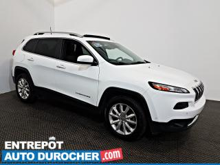 Used 2016 Jeep Cherokee Limited AWD NAVIGATION - Toit Ouvrant - A/C - Cuir for sale in Laval, QC