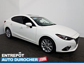Used 2016 Mazda MAZDA3 GT NAVIGATION - Toit Ouvrant - AIR CLIMATISÉ for sale in Laval, QC