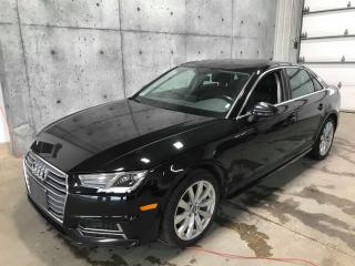Used 2018 Audi A4 AWD * TOIT OUVRANT * APPLE CARPLAY * CUIR for sale in St-Nicolas, QC