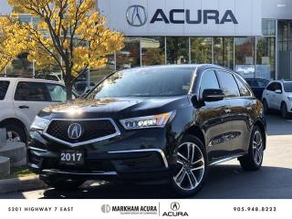 Used 2017 Acura MDX Navi Pwr Trunk, Htd Steering Wheel for sale in Markham, ON