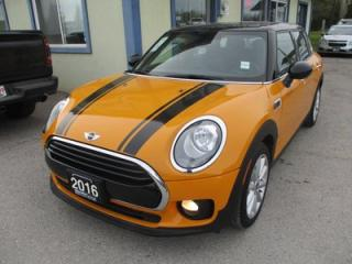 Used 2016 MINI Cooper Clubman 6-SPEED MANUAL 'SPORTY' 5 PASSENGER 1.5L - TURBO.. GREEN-MODE.. SPORT-MODE.. LEATHER.. HEATED SEATS.. BLUETOOTH SYSTEM.. DUAL SUNROOF.. for sale in Bradford, ON