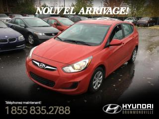 Used 2014 Hyundai Accent GL + CRUISE + GARANTIE + A/C + GR. ÉLEC for sale in Drummondville, QC