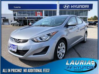 Used 2015 Hyundai Elantra GL Auto - Heated seats/ Bluetooth for sale in Port Hope, ON