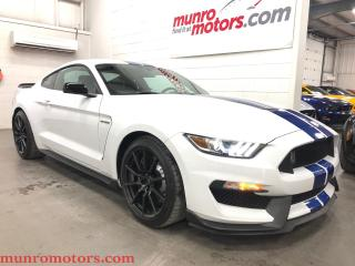 Used 2017 Ford Mustang Shelby GT350 6 SPD WHT BLUE STRIPES, 0-60 4.2SECS for sale in St. George Brant, ON