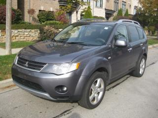 Used 2008 Mitsubishi Outlander XLS, 4X4 7 PASSENGER, LEATHER, ROOF, CERTIFIED, for sale in Toronto, ON