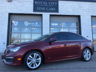 Used 2015 Chevrolet Cruze 2LT RS Sunroof Leather Alloy Wheels for sale in Guelph, ON