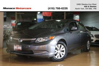 Used 2012 Honda Civic LX SEDAN AUTO - CERTIFIED|BLUETOOTH|CRUISE CONTROL for sale in North York, ON