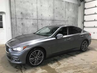 Used 2015 Infiniti Q50 LIMITED AWD 3.7 GPS CUIR TOIT CAMERA RECUL for sale in St-Nicolas, QC