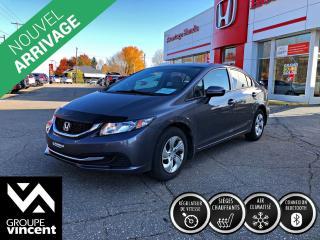 Used 2014 Honda Civic LX ** GARANTIE 10 ANS ** Roulez en toute tranquillité! for sale in Shawinigan, QC