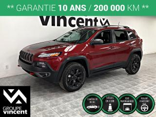 Used 2016 Jeep Cherokee TRAILHAWK AWD ** GARANTIE 10 ANS ** Parfait pour l'hiver! for sale in Shawinigan, QC