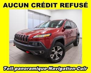 Used 2014 Jeep Cherokee TRAILHAWK 4X4 HAYON ÉLECT NAV CUIR *TOIT PANO* for sale in Mirabel, QC