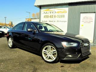 Used 2013 Audi A4 ***PREMIUM,AUCUN ACCIDENT,AWD,CUIR,NAV** for sale in Longueuil, QC