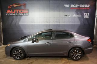 Used 2014 Honda Civic EX CVT AUTO TOIT OUVRANT MAGS BLUETOOTH 74 100 KM for sale in Lévis, QC
