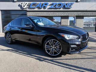 Used 2015 Infiniti Q50 Red Sport AWD Loaded for sale in Calgary, AB