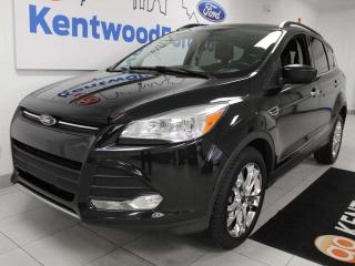 Used 2014 Ford Escape SE 4WD ecoboost with NAV, sunroof, heated power leather seats, keyless entry, back up cam for sale in Edmonton, AB