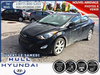 Used 2013 Hyundai Elantra Limited, GPS, cuir, WOW BAS KM! SUPER VOITURE! for sale in Gatineau, QC