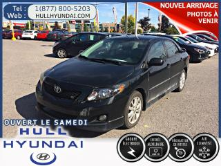 Used 2010 Toyota Corolla S  avec a/c et groupe electrique+mags for sale in Gatineau, QC