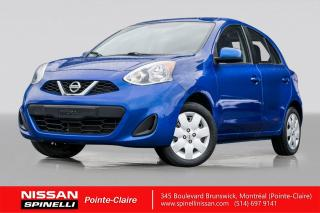 Used 2016 Nissan Micra Sv TRES BAS KM / BLUETOOTH / REGULATEUR DE VITESSE for sale in Montréal, QC