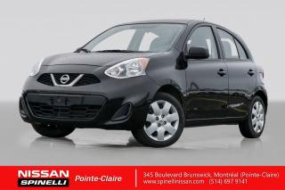 Used 2017 Nissan Micra S BAS KM / BLUETOOTH / REGULATEUR DE VITESSE for sale in Montréal, QC