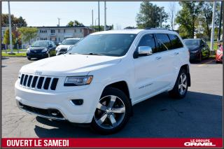 Used 2014 Jeep Grand Cherokee OVERLAND - DIESEL - CUIR - GPS - TOIT PANO - 4X4 for sale in St-Léonard, QC