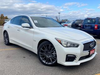 Used 2016 Infiniti Q50 Red Sport 400 AWD.Navigation.360 Camera.Blind Spot for sale in Kitchener, ON