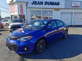 Used 2014 Toyota Corolla Berline 4 portes CVT S for sale in Alma, QC