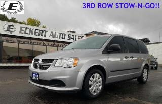 Used 2016 Dodge Grand Caravan SE WITH 3RD ROW STOW-N-GO!! for sale in Barrie, ON