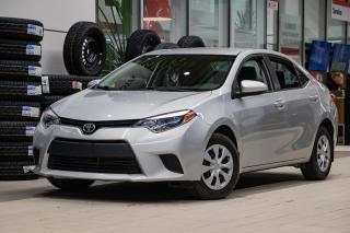 Used 2016 Toyota Corolla CE SUPER PROPRE! DÉMARREUR À DISTANCE! BLUETOOTH! UN PROPRIÉTAIRE! SUPER PRIX! FAITES VITE! for sale in Lachine, QC