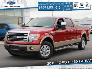 Used 2013 Ford F-150 LARIAT**4X4*CUIR*CAMERA*BLUETOOTH*A/C** for sale in Victoriaville, QC