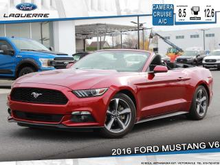 Used 2016 Ford Mustang V6**CAMERA*BLUETOOTH*CRUISE*A/C** for sale in Victoriaville, QC