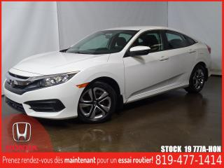 Used 2017 Honda Civic LX+SIEGCHAUF+REGVIT+BLUETOOTH+A/C for sale in Drummondville, QC