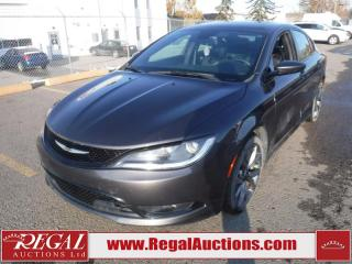 Used 2016 Chrysler 200 S 4D SEDAN FWD 3.6L for sale in Calgary, AB