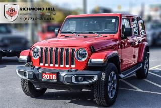 Used 2018 Jeep Wrangler Jl Unlimited Sahara LED Lighting| Uconnect 4c Nav for sale in Richmond Hill, ON