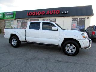Used 2011 Toyota Tacoma Double Cab Long Bed V6 Auto 4WD Camera Certified for sale in Milton, ON