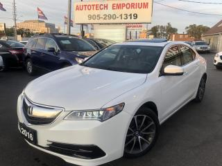 Used 2016 Acura TLX Prl White SH-AWD w/Tech Navigation/Leather/Sunroof for sale in Mississauga, ON