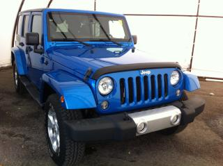 Used 2014 Jeep Wrangler Unlimited Sahara NAVIGATION, FACTORY REMOTE STARTER, HEATED LEATHER SEATING for sale in Ottawa, ON