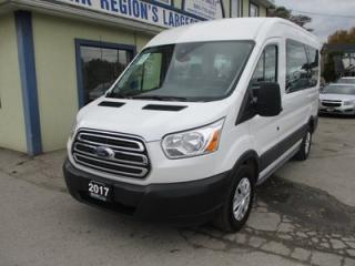 Used 2017 Ford Transit PEOPLE MOVING XLT EDITION 8 PASSENGER 3.5L - ECO-BOOST.. SLIDING MIDDLE DOOR.. MEDIUM ROOF.. 130