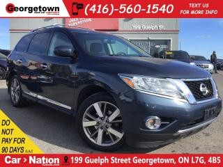 Used 2015 Nissan Pathfinder PLATINUM | 4WD|LEATHER|NAVI|ROOF|CLEAN CARFAX for sale in Georgetown, ON