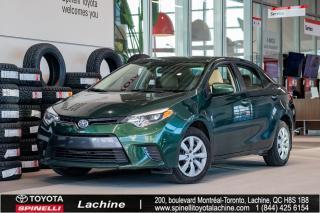 Used 2016 Toyota Corolla LE COULEUR RARE! SUPER PROPRE! SIÈGES CHAUFFANT! BLUETOOTH! CAMÉRA! UN PROPRIÉTAIRE! FAITES VITE! for sale in Lachine, QC
