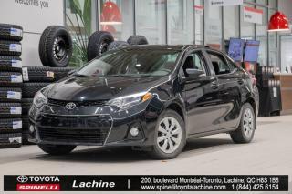 Used 2016 Toyota Corolla S CAMÉRA DE RECUL! SIÈGES CHAUFFANT! BLUETOOTH! UN PROPRIÉTAIRE! SUPER PRIX! FAITES VITE! for sale in Lachine, QC