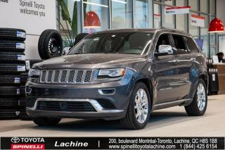 Used 2014 Jeep Grand Cherokee Summit TRÈS ÉQUIPÉ! GPS! CUIR! SIÈGES CHAUFFANT! DÉMARREUR À DISTANCE! BLUETOOTH! MAGS! TOIT PANO! for sale in Lachine, QC