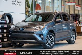 Used 2018 Toyota RAV4 Hybrid Limited TRÈS ÉQUIPÉ! DÉMARREUR À DISTANCE! GPS! CUIR! BLUETOOTH! MAGS! TOIT OUVRANT! SUPER PRIX! FAITES VITE for sale in Lachine, QC