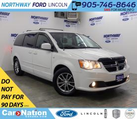 Used 2014 Dodge Grand Caravan NAV | LEATHER | PWR DOORS | REAR DVD | STOW-N-GO | for sale in Brantford, ON