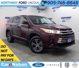 Used 2019 Toyota Highlander LE | AWD | BACKUP CAM | 3 ROW | REAR CLIMATE | for sale in Brantford, ON
