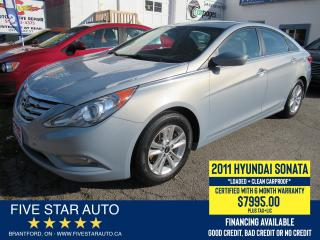Used 2011 Hyundai Sonata GLS *Clean Carfax* Certified w/ 6 Month Warranty for sale in Brantford, ON