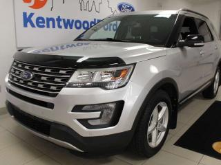 Used 2017 Ford Explorer XLT 4WD with keyless entry, power liftgate, power heated leather seats, auto start/stop, back up cam, and NAV for sale in Edmonton, AB