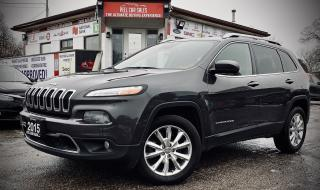 Used 2015 Jeep Cherokee Limited 4WD|Certified| PANOROOF|ADAPTIVE CRUISE|NAVI|SELF-PARK AND MUCH  MORE! for sale in Mississauga, ON