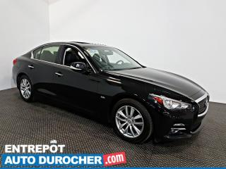 Used 2016 Infiniti Q50 2.0t AWD NAVIGATION - Toit Ouvrant - A/C - Cuir for sale in Laval, QC