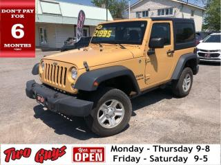 Used 2014 Jeep Wrangler Sport  | 6Spd | Freedom HardTop | Great Kms for sale in St Catharines, ON